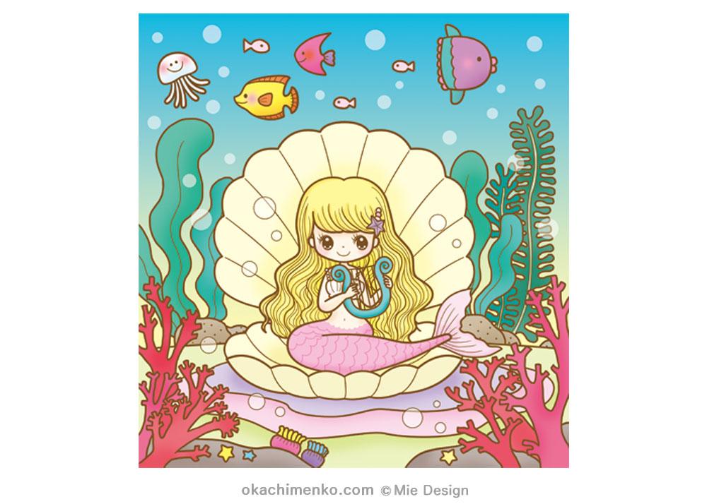 人魚姫 にんぎょひめ まちがいさがしイラスト